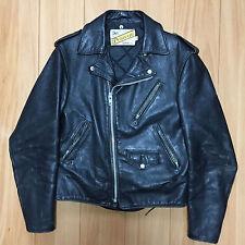 vintage 70s schott 38 perfecto leather double motorcycle jacket 618 125 steer