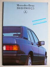 Prospekt Mercedes 190 D, 190 D 2.5, 8.1985, 32 Seiten