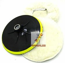 "3pc 7"" Electric Car Polishing Wheel Buffing Soft Quick Fit Backing Bonnet Pads"
