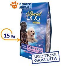 MONGE Special Dog Puppy & Junior Pollo e Riso  Kg.15 >> Crocchette per cane cani