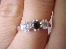 Black Diamond and Swarovski Crystal Trio Ring RRP £199 - L