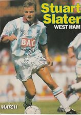 STUART SLATER WEST HAM UTD 1987-1992 ORIGINAL HAND SIGNED MAGAZINE PICTURE