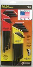 22pc Standard/Metric Hex (Allen) BallDriver® End L-Wrench Set Bondhus USA 20199