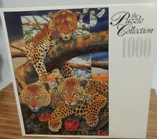 VTG 1000 Piece Jigsaw Puzzle Mother Watch Cheetah Factory Sealed Rose Art Brand