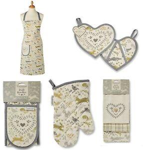 Cooksmart Woodland Collection Apron Oven Glove Pot Holder Gauntlet Tea Towel