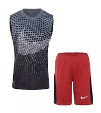 Nike Boy's 2 piece Set Sleeveless Shirt Shorts Size 4 Red, Gray, Black Size 4