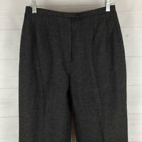 Morton Bernard 100% WOOL womens size 8 gray HIGH RISE lined tapered dress pants