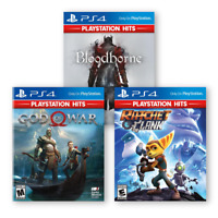 PS4 Lot Of 3 NEW Games: Ratchet & Clank, God Of War, Bloodborne - PlayStation 4