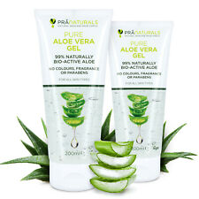 PraNaturals 99% Pure Aloe Vera Soothing Gel Vegan Organic Skin Moisturiser 200ml