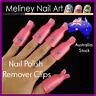 10pc Nail Polish Remover Clips Nail Art Soak off Tool Manicure Cap Wrap Plastic