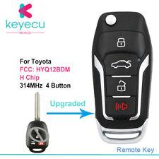 For Toyota Corolla Camry Rav4 Upgraded Flip H Chip Remote Car Key Fob HYQ12BDM