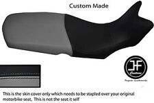 GREY AND BLACK AUTOMOTIVE VINYL CUSTOM FITS BMW F 650 GS 08-12 SEAT COVER ONLY
