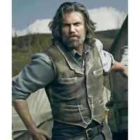 Hell on Wheels Cullen Bohannan Real Leather Vest - 100% MONEY BACK GUARANTEE!!!