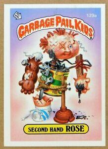 1986 Garbage Pail Kids Second Hand ROSE Series 4 GPK Vintage Sticker Card 129a