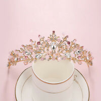 Baroque Flower Crystal Rhinestone Crown Tiaras Headband Bridal Wedding Jewelry