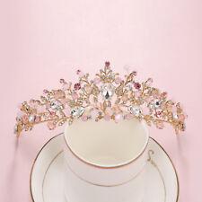 Baroque Flower Crystal Rhinestone Crown Tiaras Headband Bridal Wedding Jewelry