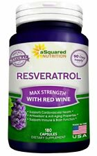 Pure Resveratrol with Red Wine Exact - 180 Capsules - Natural Antioxidant Pills