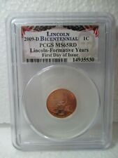 2009-D Bicentennial 1C PCGS MS65RD Lincoln-Formative Years First Day of Issue #3