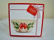 LENOX Holiday Christmas Holly & Berries 16oz Bowl NIB NEW