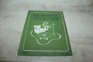 MOBILIER ET DECORATION N°2 1947 RENE GABRIEL, MAXIME OLD, HUBERT YENCESSE