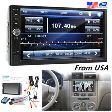 7inch HD 2DIN Car Audio Stereo MP5 Player USB FM Bluetooth+Rear View Camera Kit