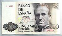 Spain-Billete. Juan Carlos I. 5000 Pesetas. 1979. Sin serie. SC/UNC
