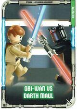 Lego Star Wars™ Series 1 Trading Cards Card 182 - Kultszene: Obi-Wan Vs Darth
