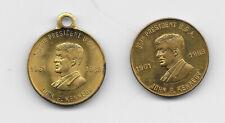 2 Vintage John F. Kennedy Medals - JFK Performance Center & Presidential Stats