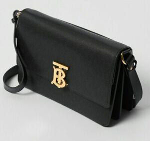 Burberry Small Monogram Leather Crossbody Bag Authentic New
