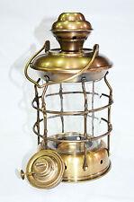 "Beautiful Antique Brass Ship Railroad Oil Kerosene Burner Lantern Oil Lamp 10"""