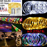 5M 50 LEDs Outdoor Rope Lights Fairy Tube String Waterproof 8 Modes Garden Xmas
