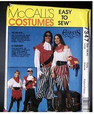 McCalls 7347 Halloween PIRATE Costume Men & Women Vintage 1994 Uncut LARGE