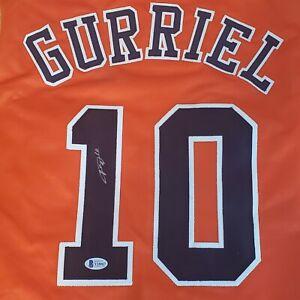 Yuli Gurriel #10 Houston Astros Orange Autographed Jersey Beckett COA