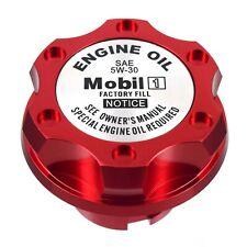 Red Oil Cap Filler Racing Billet Aluminum Mobil 1 5w-30 Fits LS1 LS2 LS3 LS6
