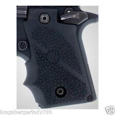 NEW HOGUE BLACK RUBBER GRIPS FOR SIG SAUER P238 .380 PISTOL UPGRADE GUN PARTS