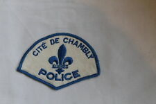 Canadian Cite De Chambly Quebec Police Patch