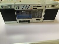 Vintage Sony CFS-3000 Transound FM/AM Cassette Recorder Boombox Tape Broken