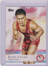 2012 TOPPS OLYMPIC HENRY CEJUDO WRESTLING ROOKIE CARD #33 ~ MMA ~ UFC ~MULTIPLES