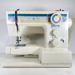 White Model 1927 Sewing Machine Heavy Duty Free Arm Dressmaking Untested
