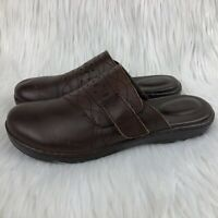 BOC Born Concept Size 7 Mules Clogs Flats Slip On Brown Leather Career Comfort