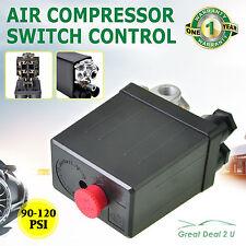 Solid 90-120PSI Air Compressor Pump Pressure Switch Control Valve Heavy Duty New