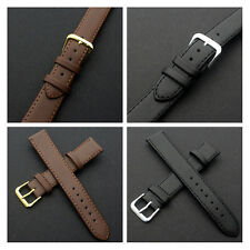 Fashion Black/Brown Leather Buckle Watch Strap Band for Women Men