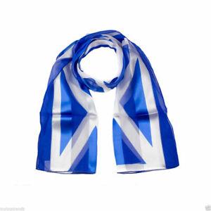 Unisex  Scottish Saltire Blue and White St Andrew Flag Scarf Patriotic Scarves