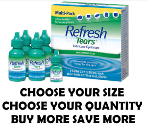 Refresh Tears Lubricant Eye Drops Moisturizing Relief Dry Eyes