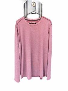 Under Armour Men 2XL/2TG/2EG Heat Gear Purple Long Sleeve Shirt