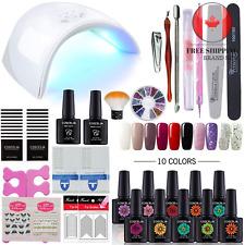 Starter Nail Set UV LED 36W Lamp Dryer Gel Polish Kit Soak Off Manicure 10 color