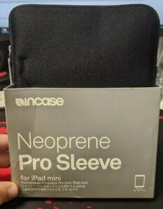 "Incase Neoprene Pro Sleeve for iPad Mini Black. 6.2"" x 9"" x 1.3. Plush Interior"