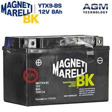 BATTERIA MAGNETI MARELLI YTX9-BS 12V 8Ah YAMAHA 125-250 YPR X MAX 2009 2010 2011