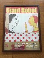 MARGARET KILGALLEN POSTER ART WALL DECOR VERY RARE GIANT ROBOT WITH FRAME JAPAN