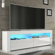 TV Rack Fernsehschrank Lowboard Hochglanz weiss,  mit LED RGB  157*